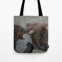 Bear Water Fight Tote Bag