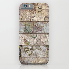 Old Times (World Map) 2 iPhone Case