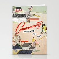 community Stationery Cards featuring Community by Heather Landis