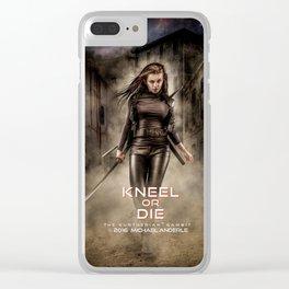Kneel Or Die Clear iPhone Case