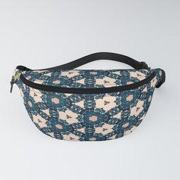 Geometrical Dark Blue delicate Flower design Fanny Pack