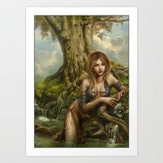 Fountain of oblivion Art Print