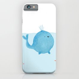 The Enigmatic Pudding Whale iPhone Case