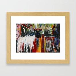 12 Feathers Framed Art Print
