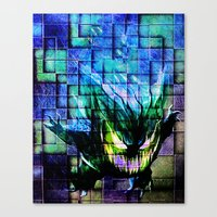 gengar Canvas Prints featuring Gengar Blix by Angela Chevelle