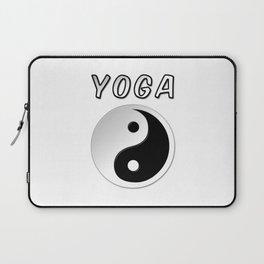Yoga With Yin Yang Symbol Laptop Sleeve