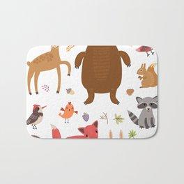 Forest Critters Bath Mat