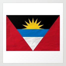Antigua and Barbuda Flag Art Print