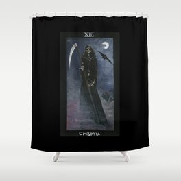 Tarot card Death XIII Shower Curtain