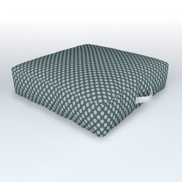 Blue Willow Green PPG1145-4 Polka Dots on Night Watch PPG1145-7 Outdoor Floor Cushion