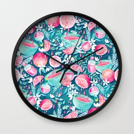 Drops of Grapefruit Dew Wall Clock
