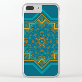 Ornamental Design, By Colourful Magic Clear iPhone Case