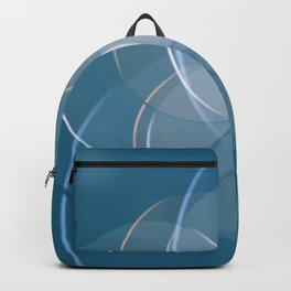 Blue Yoga Lotus Backpack