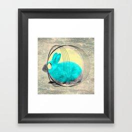 hypnotic rabbit Framed Art Print