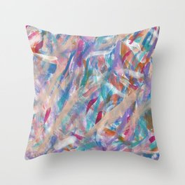 Painterly Color Expression Throw Pillow