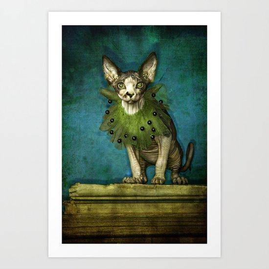 Green collar Art Print