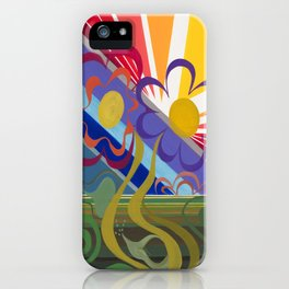 Flower Horizon iPhone Case