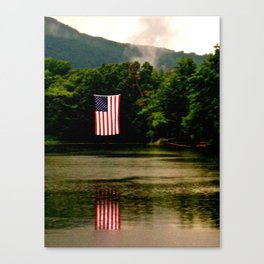 Flag on 4th of July Canvas Print