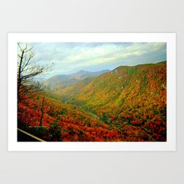 Gorgeous Chimney Rock in Late Autumn Art Print