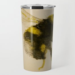 Watercolor Bumble Bee Painting Travel Mug