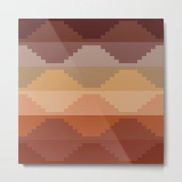 Geometric Aztec II Metal Print