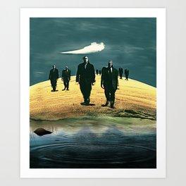 Surrealism - Cubical March Art Print