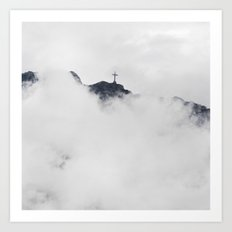Foggy Faith Art Print