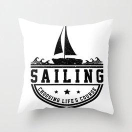 Sailing Sailing Ship Sailing Yacht Sail Gift Boat Throw Pillow