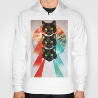 hippy Hoodies featuring Hippy Cats by Lauren Miller