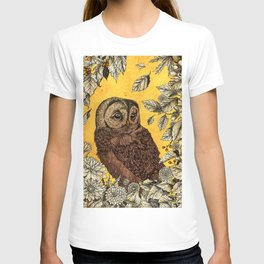 Tawny Owl Yellow T-shirt