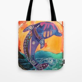 Fantastic animal - Little dolphin - by LiliFlore Tote Bag