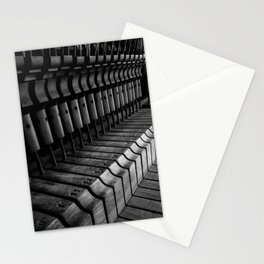 Silent Piano Keys Stationery Cards