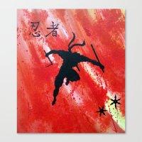 ninja Canvas Prints featuring NINJA by STELZ (Vlad Shtelts)