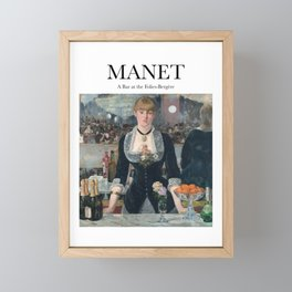 Manet - A Bar at the Folies-Bergère Framed Mini Art Print