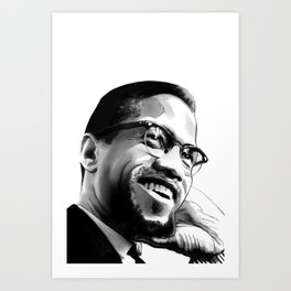 Malcolm Smile by Joaquín Esteban J. Art Print