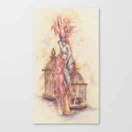 Feathered in Vanity Fair  Canvas Print