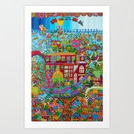 Pawook Art Print