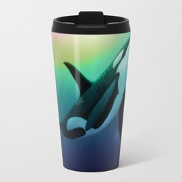 """The Dreamer Ascends"" by artist Amber Marine ~ (Copyright 2015) ~ Orca / Killer Whale Art Travel Mug"