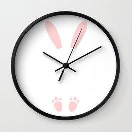 Bunny Happy Easter Design Wall Clock