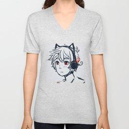 Anime cat boy :> Unisex V-Neck