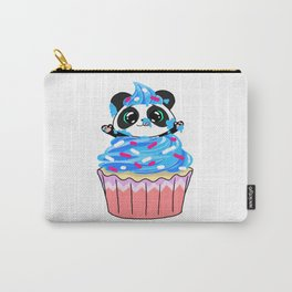 A Panda Popping out of a Cupcake Carry-All Pouch