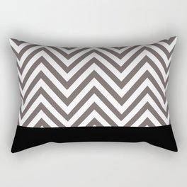 Chevron Striped Seafoam Aqua, Grey, Black Rectangular Pillow