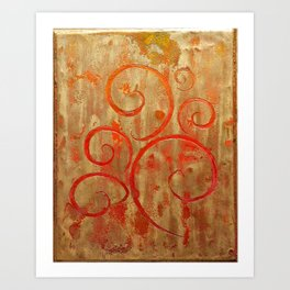 Pompeii Red (encaustic painting) Art Print