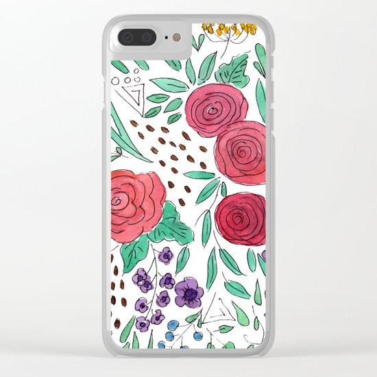 Flower meadow . Watercolor . Clear iPhone Case