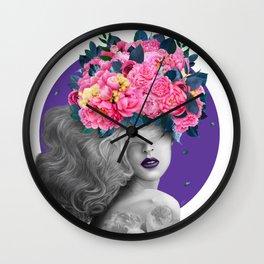 Ultraviolet dreams Wall Clock