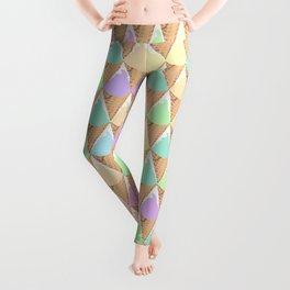 Spring Pastel Ice Cream Pattern Leggings