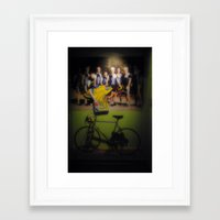 tour de france Framed Art Prints featuring tour de france by Emanuele Reina