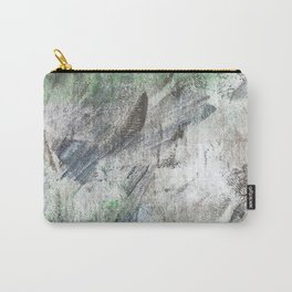 Gray green abstract Carry-All Pouch