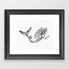 MermAngel Framed Art Print