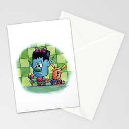 Little moster III Stationery Cards